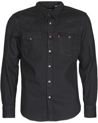 Levi's Overhemd Lange Mouw Levis Barstow Western Standard - Zwart
