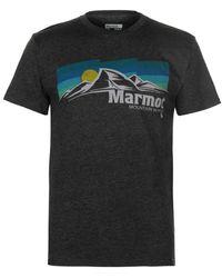 Marmot Sunsettter T Shirt Men's T Shirt In Grey - Gray