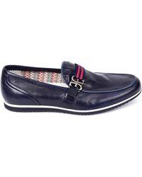 Fabi Mocassins cuir lisse Chaussures - Bleu