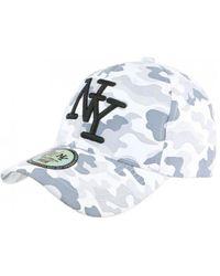 Hip Hop Honour Casquette Casquette NY Militaire Blanche et Grise Fashion Baseball Kaska - Bleu