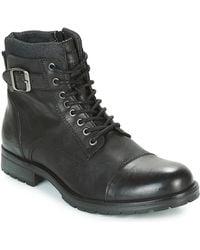 Jack & Jones Laarzen Albany Leather - Zwart