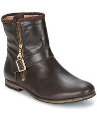 Paul & Joe - Nouno Women's Mid Boots In Brown - Lyst