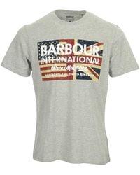 Barbour - T-shirt SMQ Vintage Flag Tee - Lyst