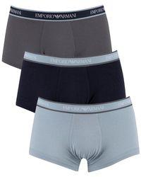 Armani Pack de 3 troncs Boxers - Bleu