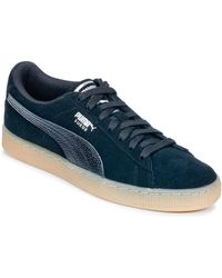 PUMA Lage Sneakers Suede Classic Bubble W's - Blauw