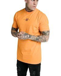 SIKSILK Camiseta para hombre Naranja Neón Square
