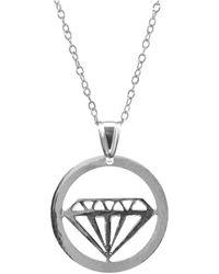 Anchor & Crew Anchor Crew Faceted Diamond Necklace Pendant Pendant - Metallic