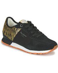 Pepe Jeans Lage Sneakers Verona W Cascade - Zwart