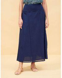 La Fiancee Du Mekong Jupe longue coton TALILA Jupes - Bleu
