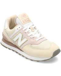 Competidores medianoche Invertir  New Balance Rubber New Balance 574 Sateen Tab Shoes in Metallic - Lyst