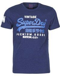 Superdry T-Shirt VL NS TEE - Blau