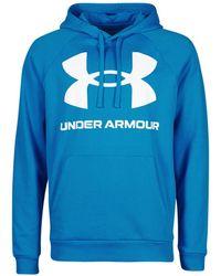 Under Armour Sweater Ua Rival Fleece Big Logo Hd - Blauw