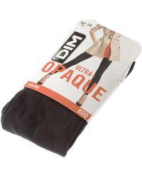 DIM Legging chaud long - Ultra opaque femmes Collants en Noir