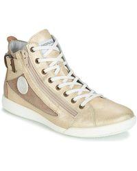 Pataugas Hoge Sneakers Palme - Metallic