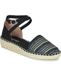Esprit Espadrilles Ines Strip Sandal - Zwart