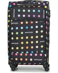David Jones Casilo 106l Women's Soft Suitcase In Black