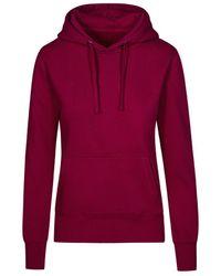 Promodoro Sweat Capuche X.O Femmes Sweat-shirt - Rouge