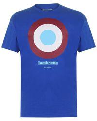 Lambretta Tar T-Shirt hommes T-shirt en bleu