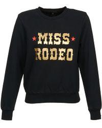 American Retro - Mirko Women's Sweatshirt In Black - Lyst