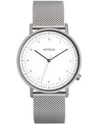 Komono Horloge Lewis Mesh - Meerkleurig