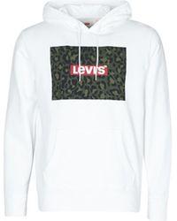 Levi's Kapuzenpullover mit Logo-Print - Weiß