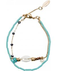 Hipanema - Bracelet Cyan, Turquoise Women's Bracelet In Blue - Lyst