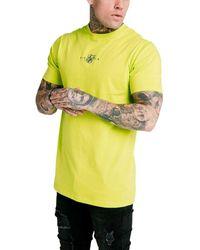 SIKSILK Camiseta para hombre Verde Neón Square