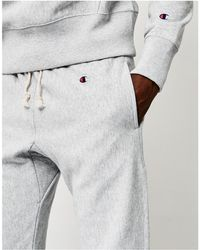 Champion - Reverse Weave Elastic Cuff Joggers Grey - Lyst