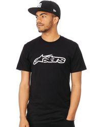 Alpinestars Black-white Blaze T-shirt T Shirt