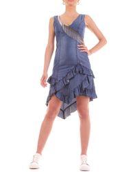 Yes-Zee Robe courte A239-X823 - Bleu
