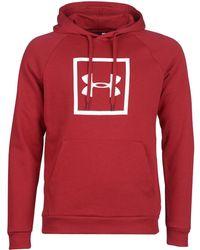 Under Armour - RIVAL FLEECE LOGO HOODIE hommes Sweat-shirt en rouge - Lyst
