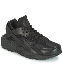 Nike Lage Sneakers Air Huarache Run W - Zwart