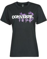 Converse Camiseta HYBRID FLOWER RELAXED TEE - Negro