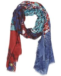 Desigual Sjaal Happyday - Blauw