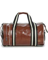 Fred Perry Sporttas Contrast Colour Barrel Bag - Bruin