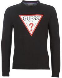 Guess Sweater Ed Cn Fleece - Zwart