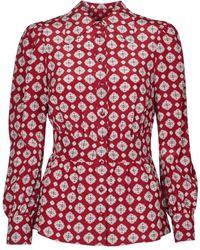 MICHAEL Michael Kors Blouse Lux Pindot Med Top - Rood