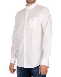 GANT Chemise La chemise régulière en drap - Blanc