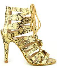 Cendriyon Sandales Doré Chaussures Femme Sandales - Métallisé