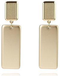 La Modeuse Boucles oreilles Boucles d'oreilles dorées pendantes rectangulaires - Métallisé