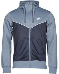 Nike Felpa Nsrepeat Pk Fz Hoodie - Blu
