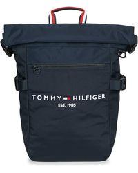 Tommy Hilfiger Zaini Th Established Rolltop Backpack - Blu