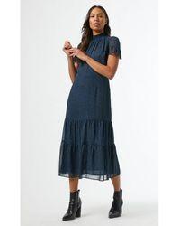Dorothy Perkins Robe Robe mi-longue à pois - Bleu