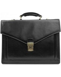 Time Resistance The Magus Men's Briefcase In Black