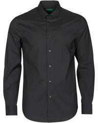 Benetton Camisa manga larga HUREL - Negro