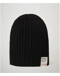 Napapijri Bonnet FLOS - NP0A4EMD CHAPEAU Unisexe BLACK - Noir