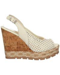Apepazza - Frt48 Wedge Sandals Women White Women's Sandals In White - Lyst
