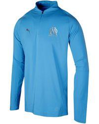 PUMA T-shirt Lange Mouw Om 1/4 Zip Top - Blauw