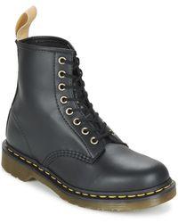 Dr. Martens | Vegan 1460 Men's Mid Boots In Black | Lyst