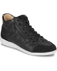 Geox Hoge Sneakers D Myria - Zwart